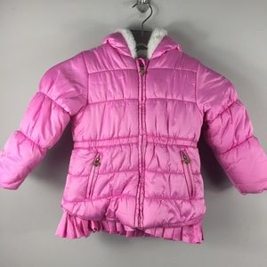OshKosh B'gosh pink girls puffer coat